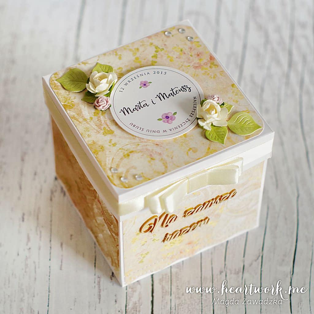 Delikatny box na ślub. Oryginalny prezent ślubny.