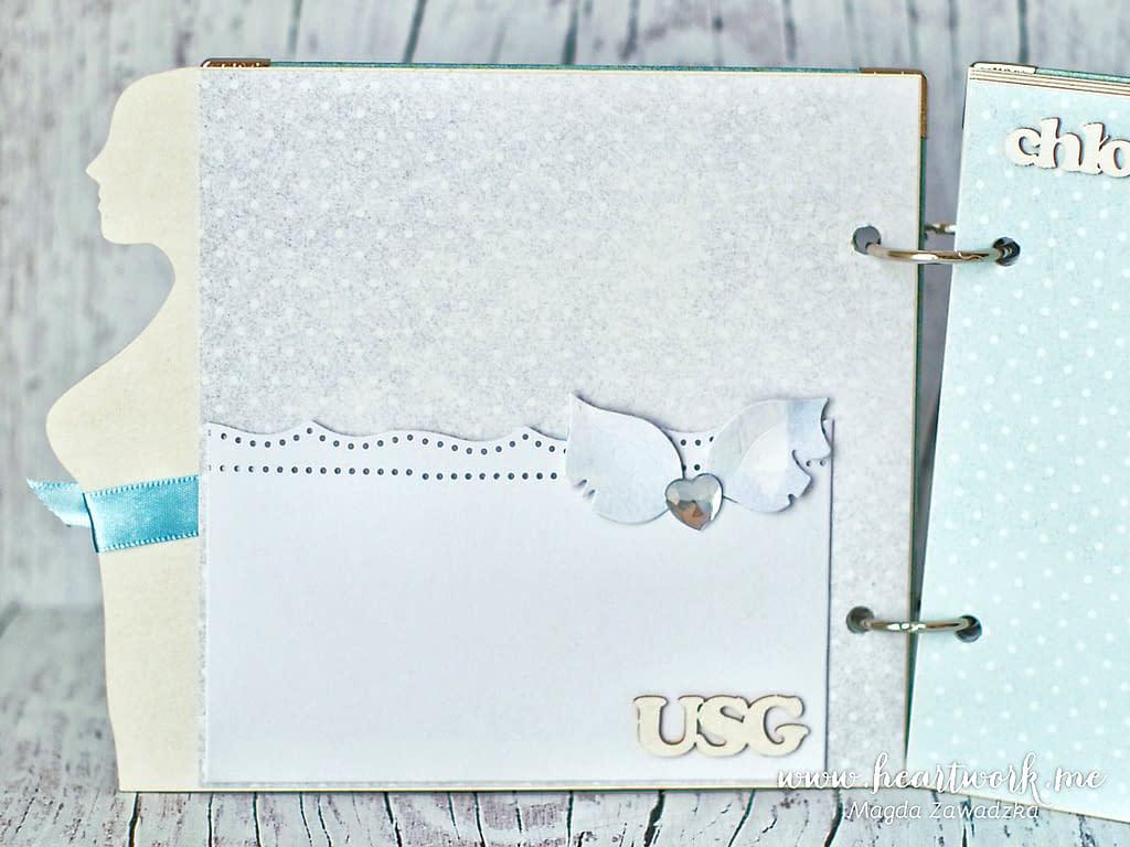 Kieszonka na płytę z badania lub luźne zdjęcia USG