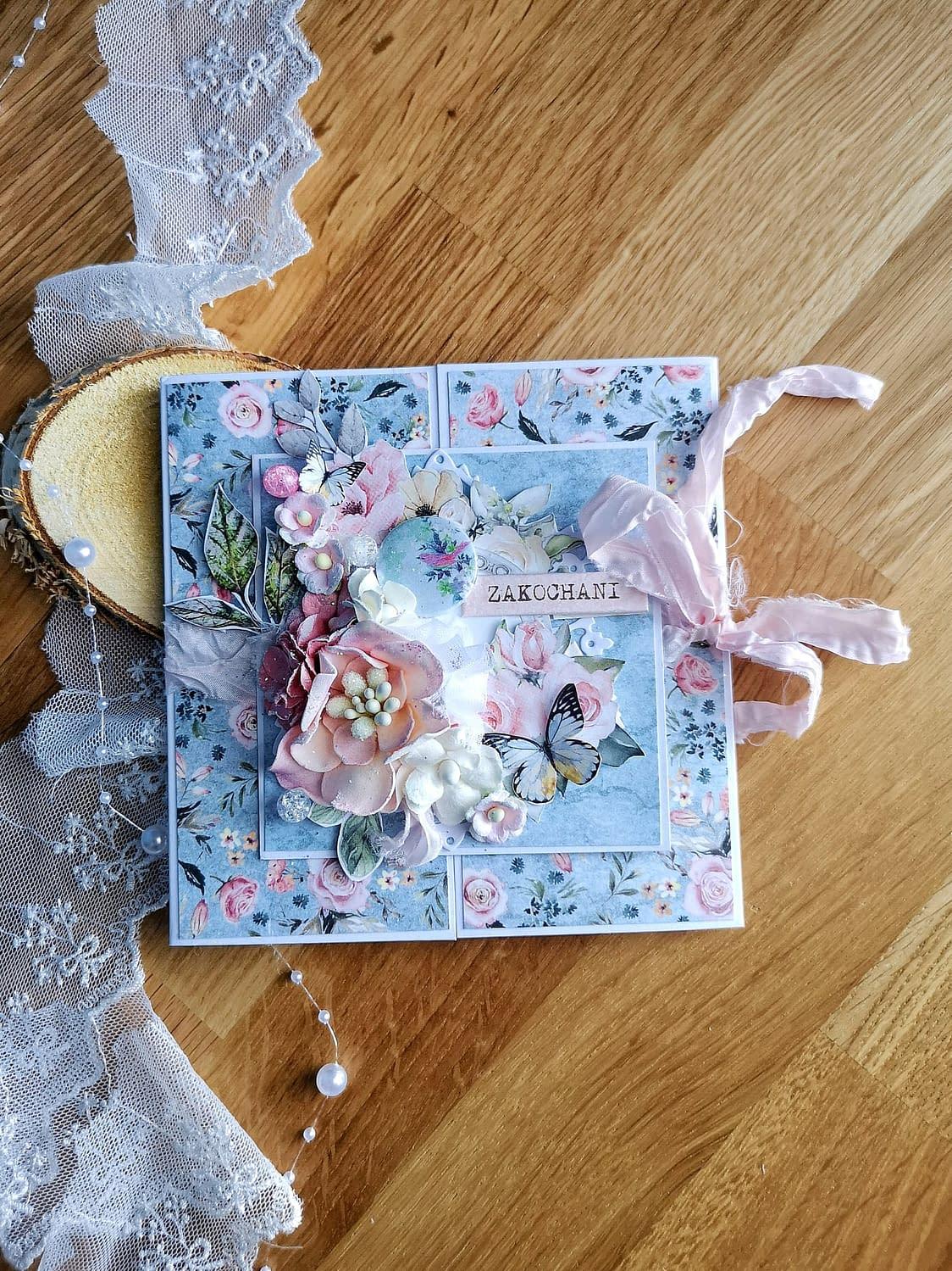 Kartka z okazji ślubu. Ręcznie robione kartki ślubne.