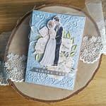 Kartka ślubna z młodąparą
