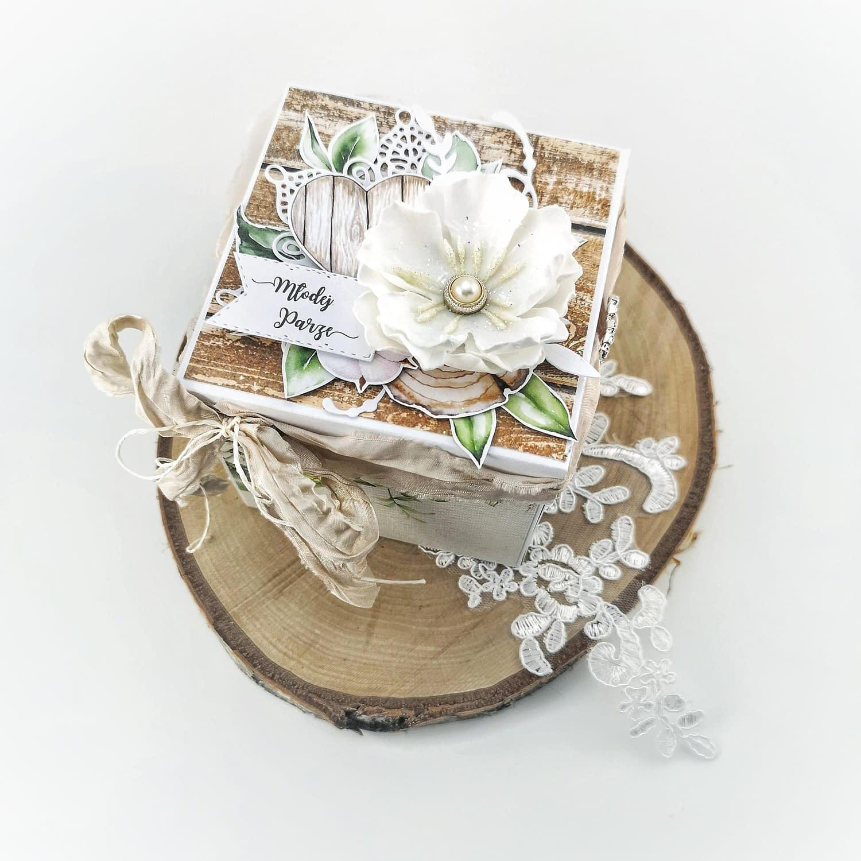 Exploding box na ślub boho. Oryginalny box w prezencie ślubnym.