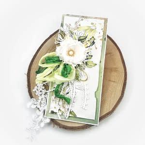 Ręcznie robiona kartka okolicznościowa z możliwością personalizacji. Kartka na ślub, urodziny, imieniny.