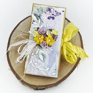 Ręcznie robiony prezent na Dzień Nauczyciela. Kartka z miejscem na czekoladę w środku. Czekoladownik handmade.