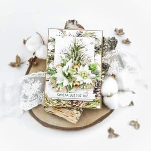 Ręcznie robiona kartka na Boże Narodzenie. Kartki świąteczne handmade na sprzedaż. Oryginalne kartki świąteczne handmade.