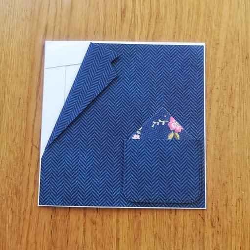 Kartka w kształcie garnituru jest już prawie gotowa!
